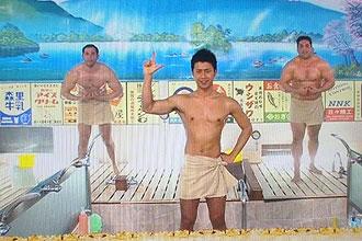 榎並大二郎のお風呂でエクササイズが超エロい !! 画像入手 !!